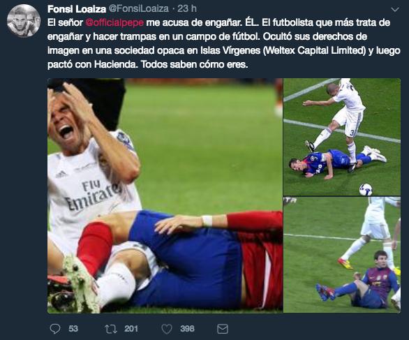 Pepe, Real Madrid, Fonsi Loaiza, Fraude