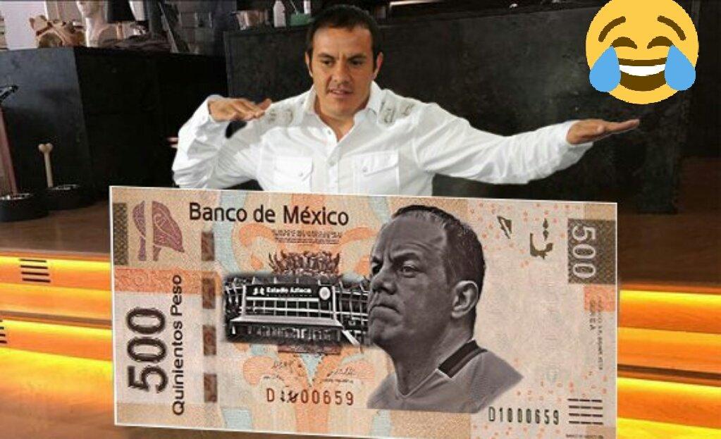 Cuauhtémoc Blanco Billete 500 Pesos Banco México