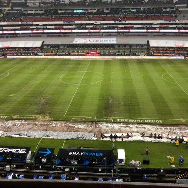 América Saldría Estadio Azteca Lluvia Césped