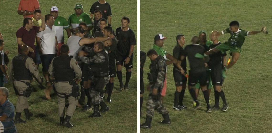 Futbol Brasil, Agresión Aficionados Árbitros, Nacional de Patos, Centro Sportivo Paraibano