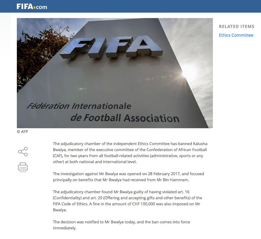 Kalusha, América, FIFA, Mohamed Bin Hammam