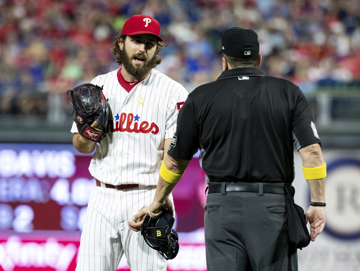Austin Davis, Phillies, Umpire, Tarjeta, Pitcher, Apuntes
