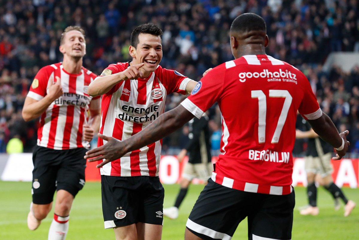 Clásico Holandés, Chucky Lozano, PSV, Goleada, Ajax, Erediviese
