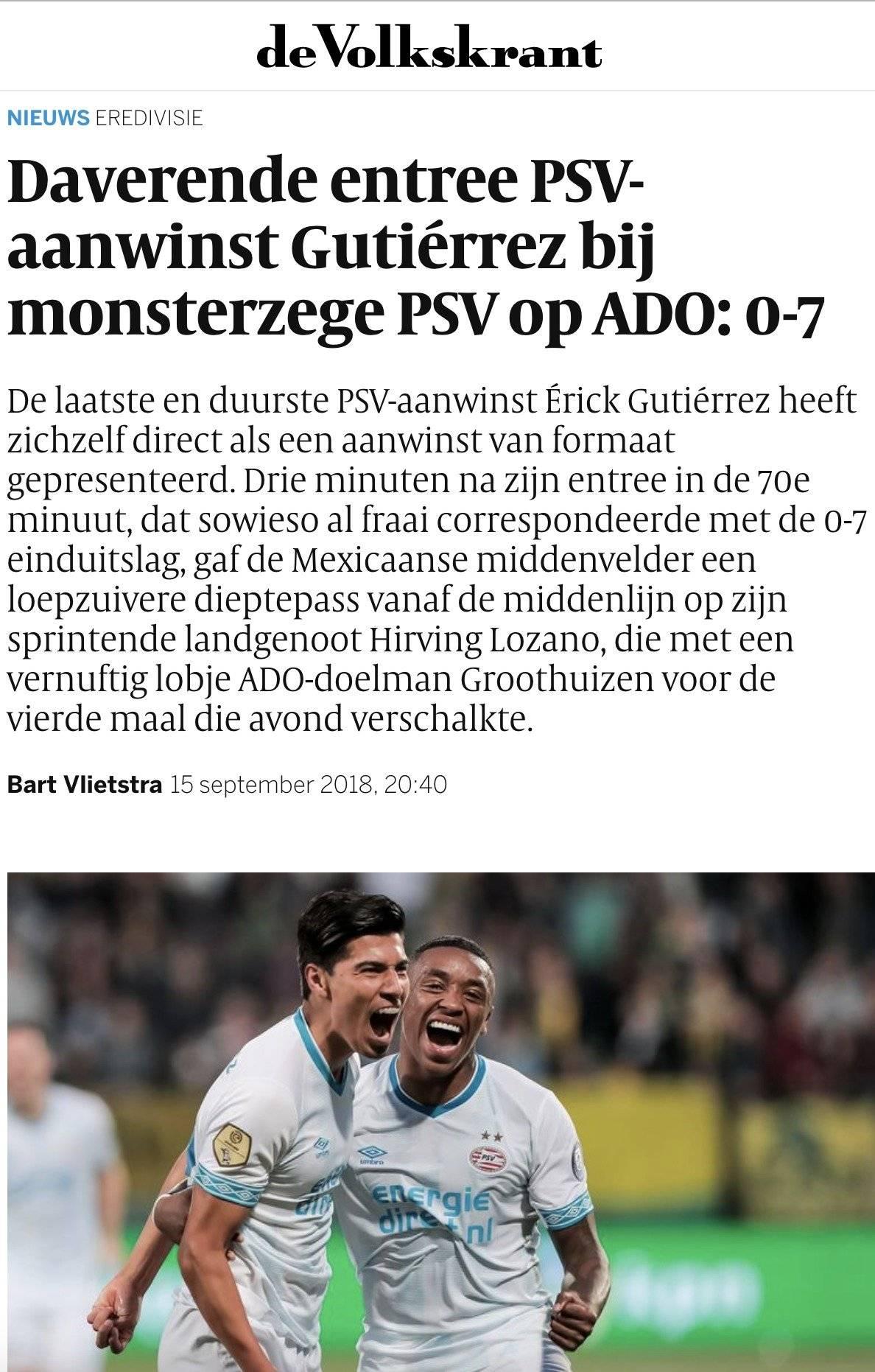 Erick Gutiérrez PSV Los Pleyers