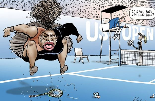 Serena Williams, US Open, Herald Sun, Caricatura