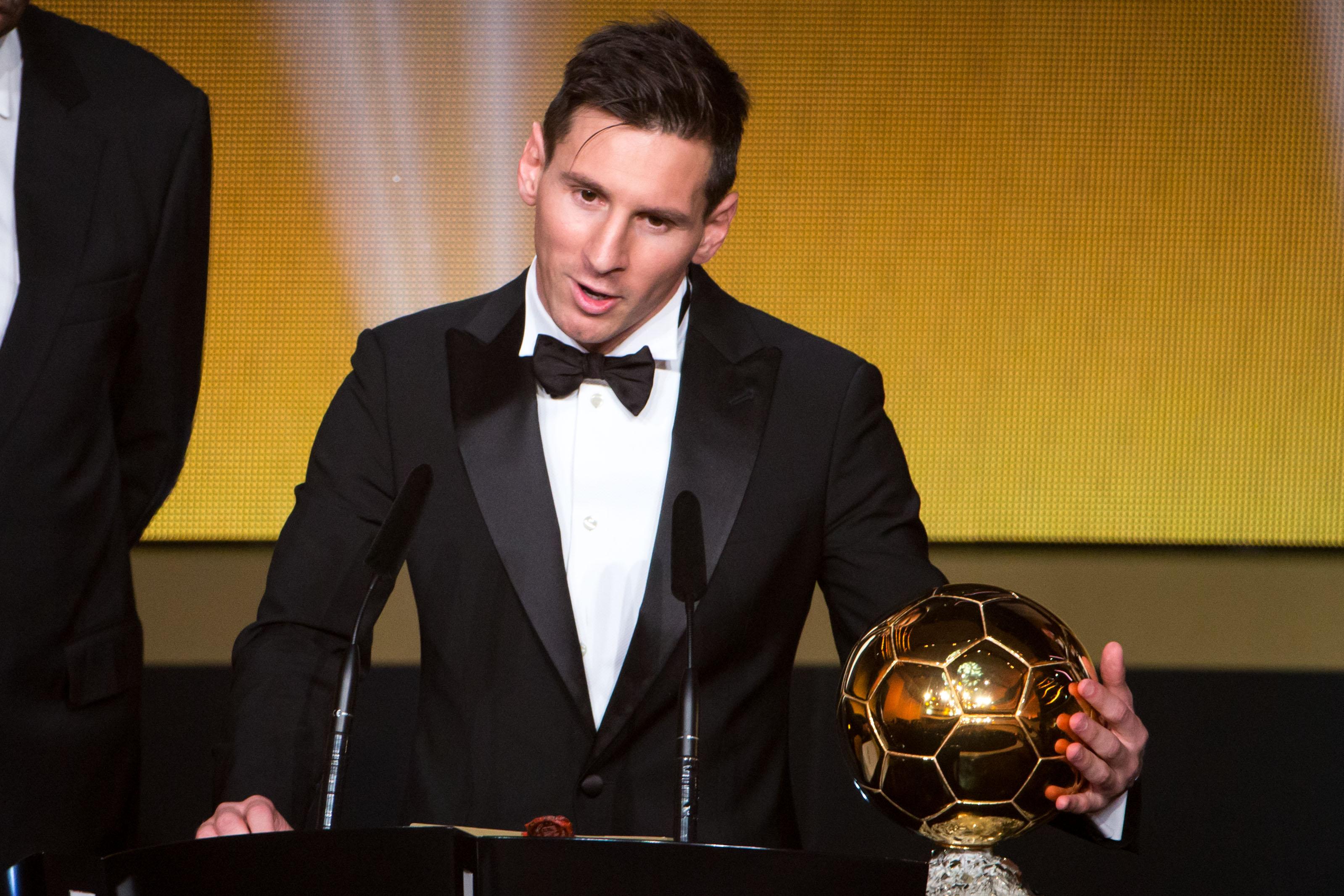 Messi France Football Balón De Oro Simulacro Pleyers