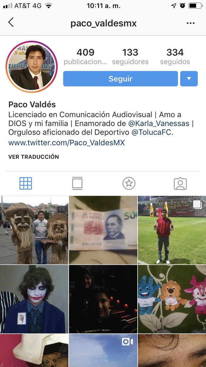 Perfil Paco Valdés Instagram Los Pleyers