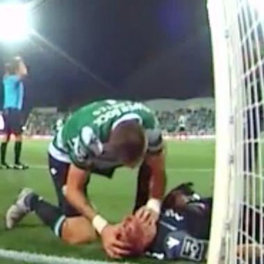 Sebastian Coates, Sporting Lisboa, Romain Salin, Salva Vida