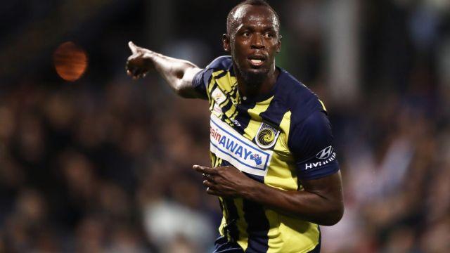 Usain Bolt, Estreno, Titular, Doblete, Futbolista, Mariners
