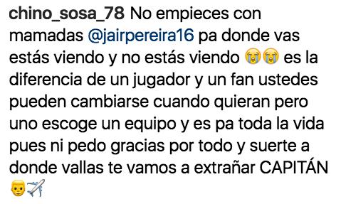 Jair Pereira, Mensaje, Despedida, Chivas, Referente
