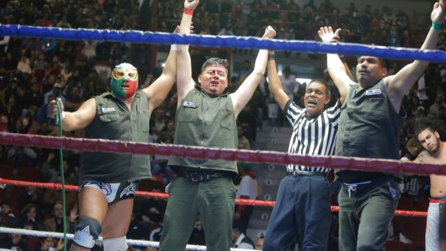 Los Gasolineros Debut AAA Lucha libre Los Pleyers
