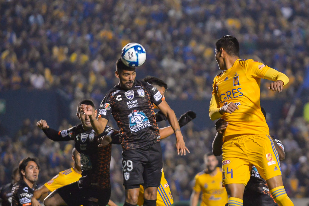 09/11/2019. Franco Jara FC Dallas Pachuca Mls Los Pleyers, Jara remata de cabeza.