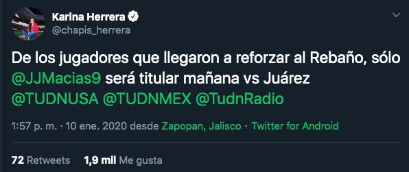 11/01/2019, Víctor Guzmán aclara su ausencia de concentración de Chivas