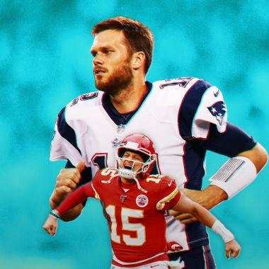 20/01/2020. Tom Brady Patrick Mahomes Nfl Super Bowl Los Pleyers, Patrick Mahomes y Tom Brady.