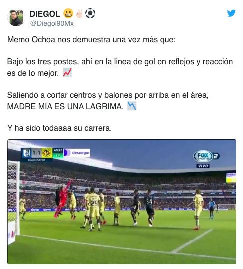 11/02/2020. Críticas Ochoa Los Pleyers, Tuit de crítica a Ochoa.