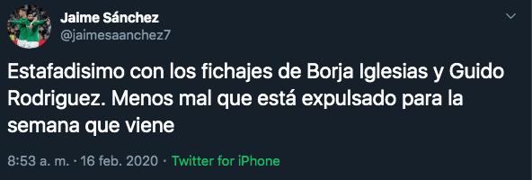 17/02/2020. Estafa Guido Rodríguez Los Pleyers, consideran a Guido Rodríguez como una estafa.