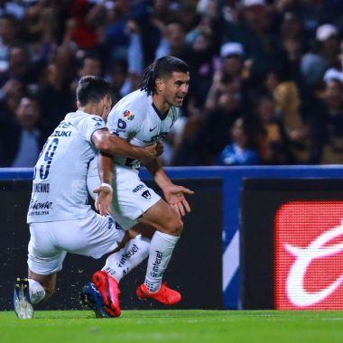 06/03/2020. Ignacio Malcorra Pumas Operación Corazón Los Pleyers, Malcorra festeja su gol contra el América.