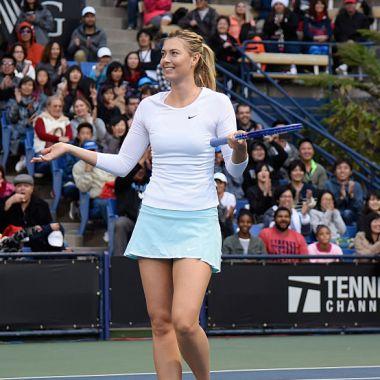 13/12/2015. Maria Sharapova sorprendió a todos al dar su número de teléfono para mantener contacto con sus fanáticos durante la cuarentena