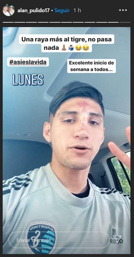25/05/2020, Alan Pulido del Sporting Kansas City de la MLS sufre accidente en su casa
