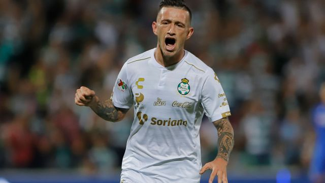 10/11/2019. Brian Lozano Tecatito Corona Porto Sustituto Los Pleyers, Brian Lozano festeja un gol.