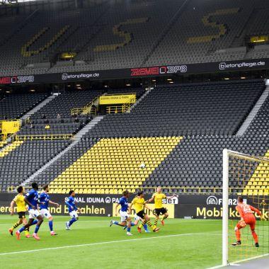 16/05/2020. Bundesliga Borussia Dortmund Futbol Regreso Los Pleyers, Imagen del partidos Dortmund vs Schalke 04.