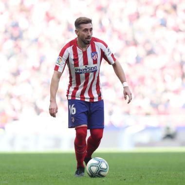 26/01/2020. Héctor Herrera West Ham Atlético de Madrid Refuerzo Los Pleyers, Héctor Herrera en un juego del Atlético de Madrid.
