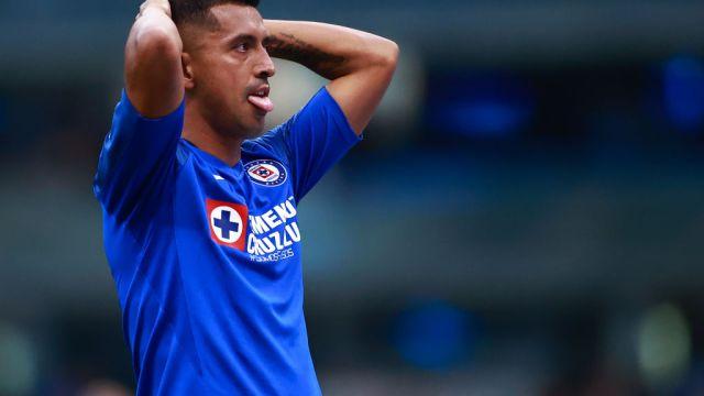 07/03/2020. Liga MX Clausura 2020 Cancelación Campeón Los Pleyers, Elías Hernández se lamenta un jugada en el Cruz Azul vs Xolos.
