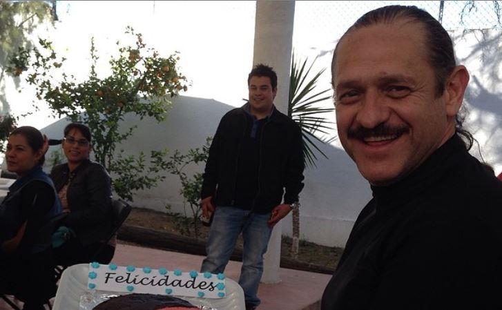11/05/2020. Teo González León Futbolista Portero Los Pleyers, Teo González con un pastel.