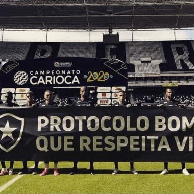 En Brasil un equipo protesta, los obligaron a jugar en plena pandemia 29/06/2020