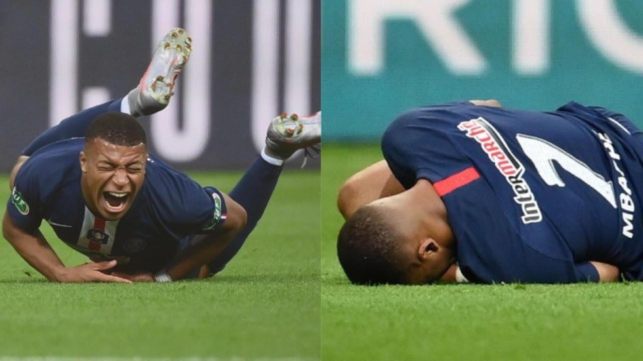 Mbappé sufre espantosa lesión con el PSG y llora [VIDEO] 24/07/2020