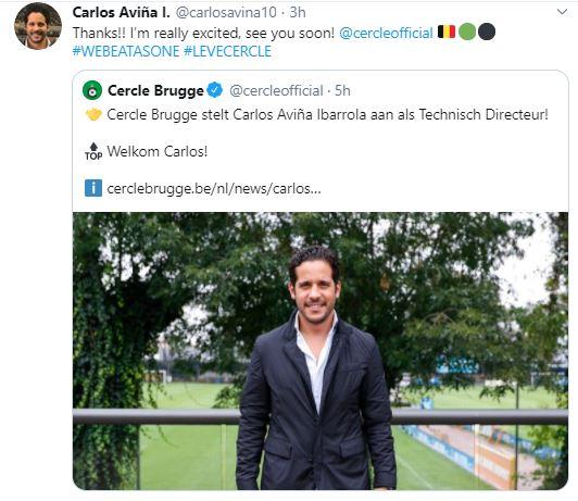 Carlos Aviña Presentación Cercle Brugge Los Pleyers