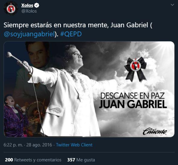 ¿Sabías que Juan Gabriel era aficionado al futbol?