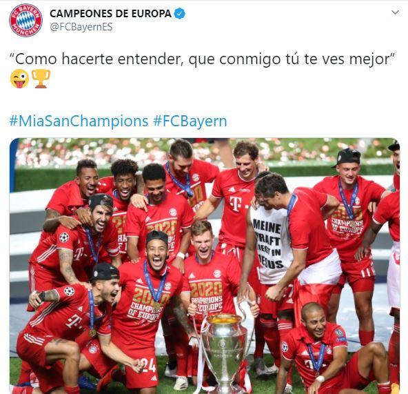 Tuit Bayern Munich Canción Maluma Neymar Los Pleyers