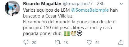 Tuit Ricardo Magallán Los Pleyers
