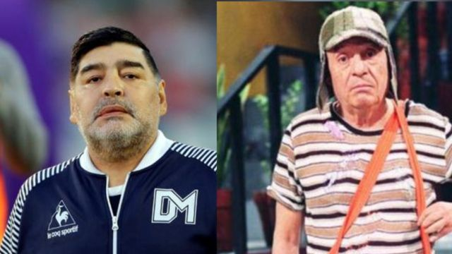 """Maradona pidió videos de """"El Chavo del 8"""" a cambio una entrevista"""