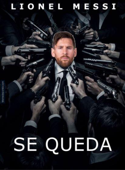 Meme de que Messi se queda