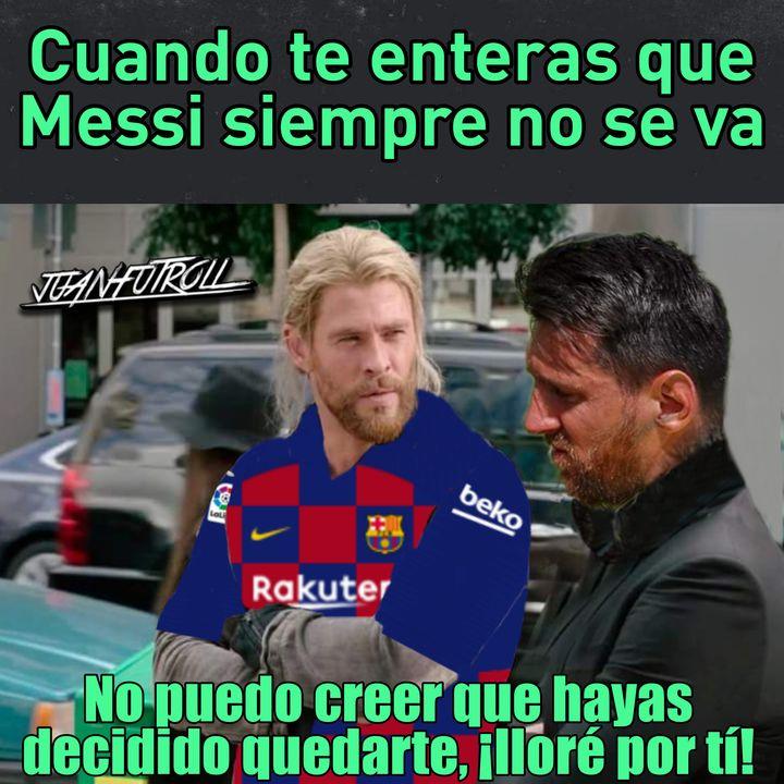Meme de Thor y Messi