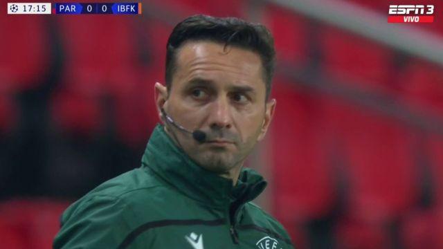 Sebastian Coltescu arbitro racista champions league paris saint germain vs istanbul