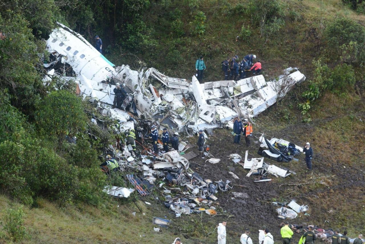 avion chapecoense del accidente