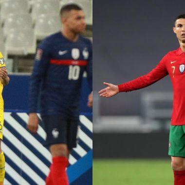 Francia y Portugal decepcionan eliminatorias Qatar 2022