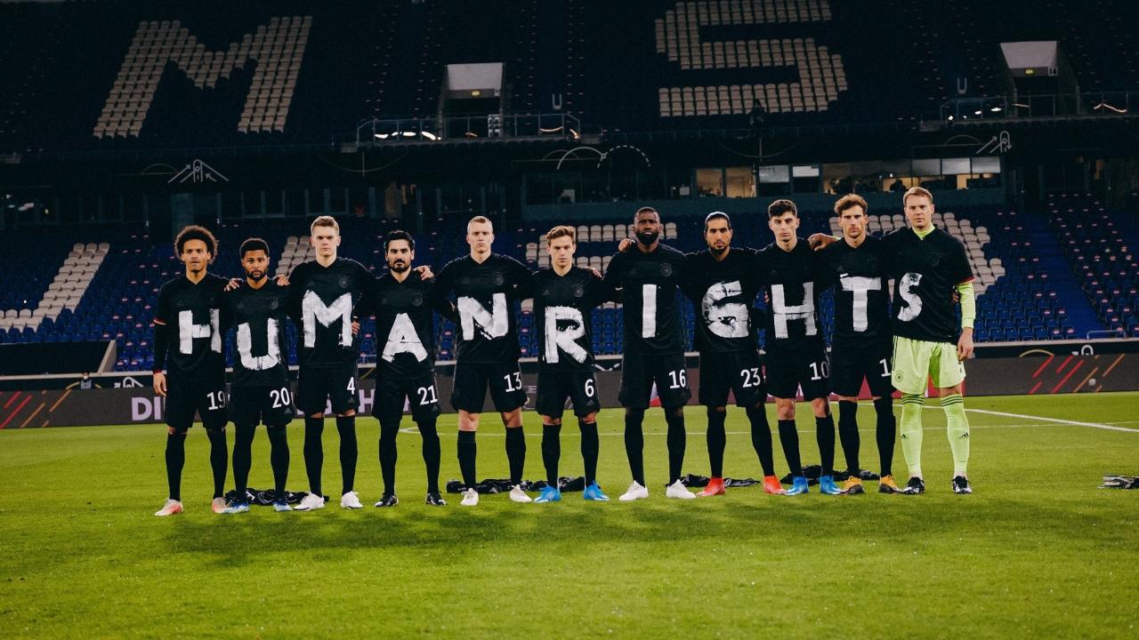 Selección Alemana protesta a los derechos humanos