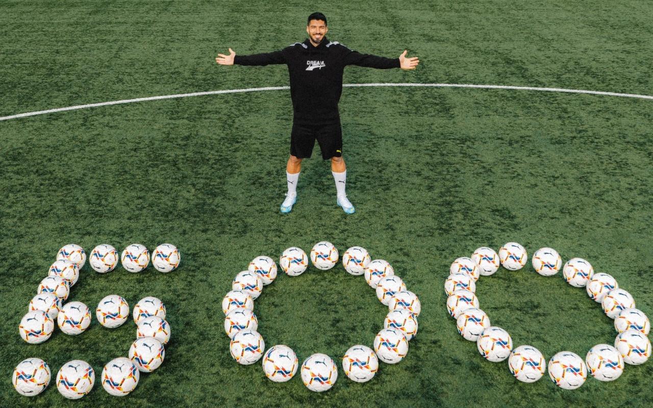 Luis Suárez llega a 500 goles