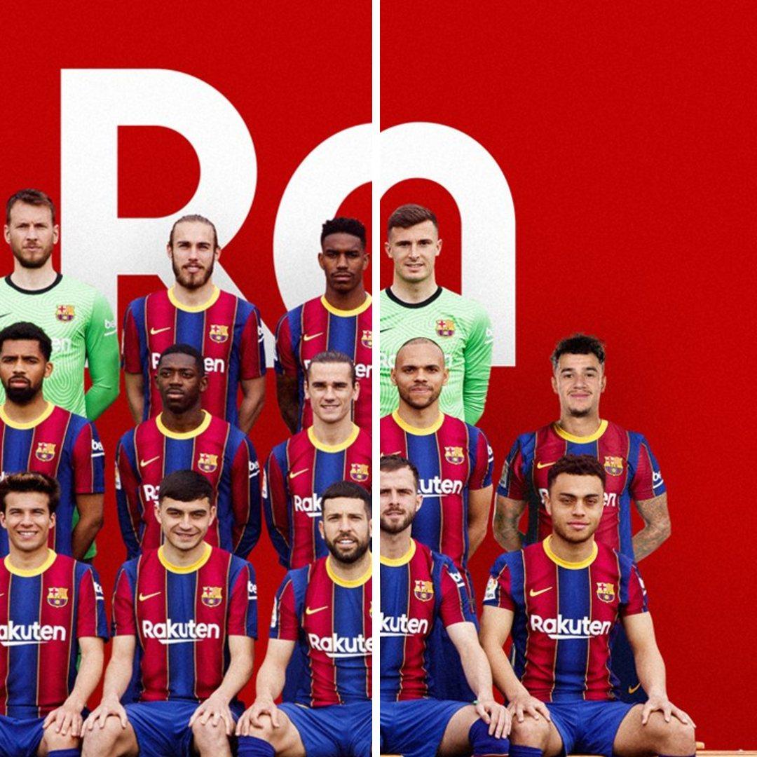 Barcelona foto oficial Coutinho Photoshop