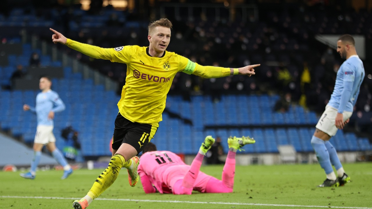 Futbol: Manchester City derrota al Borussia Dortmund en la ida de los cuartos de final de la UEFA Champions League