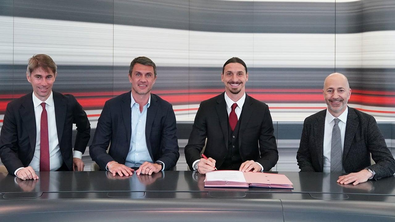 Zlatan Ibrahimović milan contrato 2022 serie a