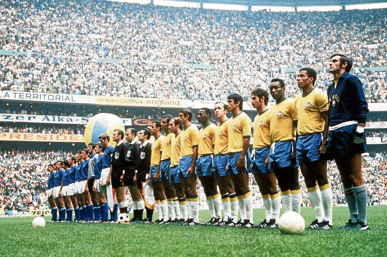 Estadio Azteca inauguración Pelé Brasil 1970