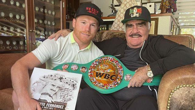 saúl Canelo Álvarez vicente fernandez box boxeo foto