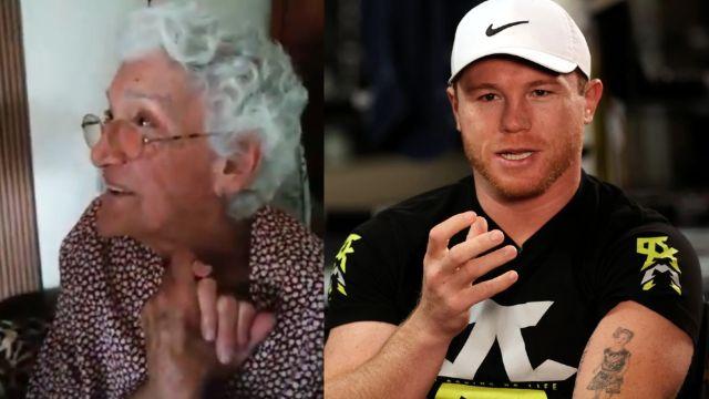 'Canelo' manda video agradeciendo a Doña Teresita, la abuela que siempre reza por él