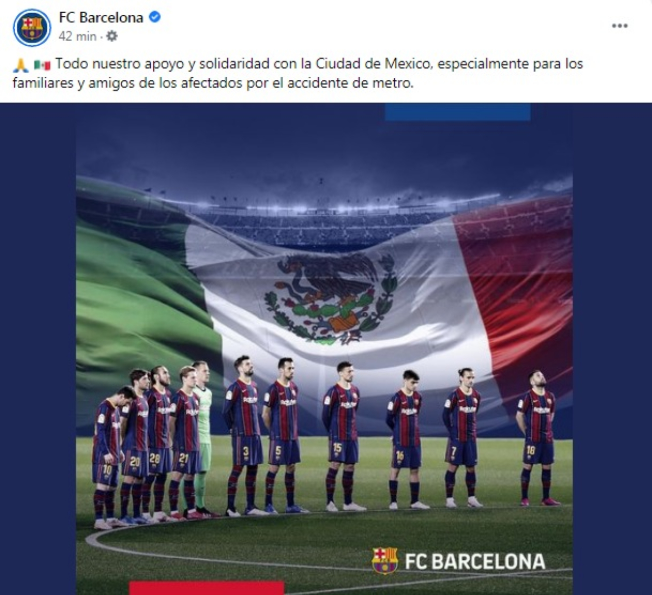 Barcelona mensaje solidaridad