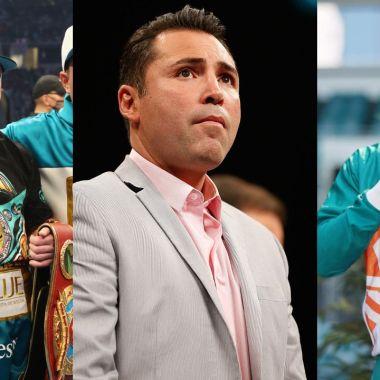 Óscar de la Hoya floyd Mayweather Jr. y Canelo Álvarez